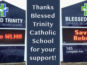 Thanks Blessed Trinity Catholic Secondary School for your support!