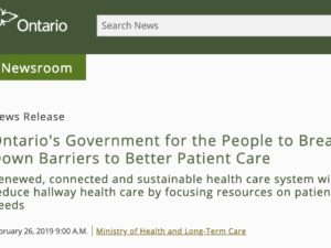 WLMH is a Shining Example of the Ontario Government's new long term Health Care Plan