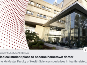 Medical student plans to become a hometown doctor